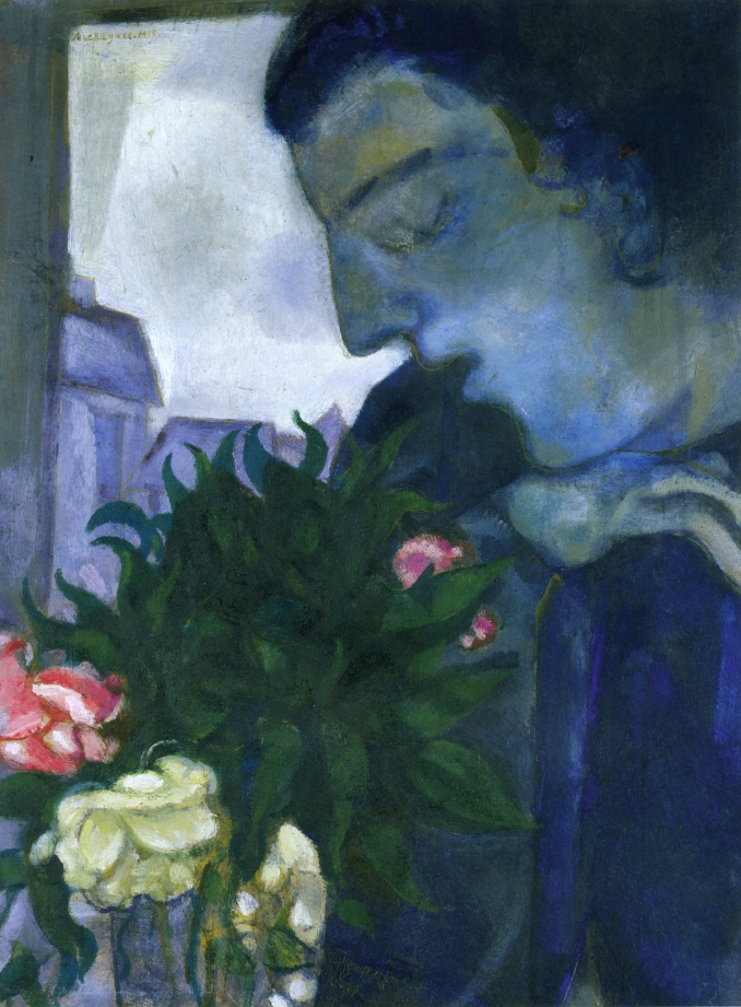 Self Portrait in Profile, 1914 - Marc Chagall - WikiArt.org