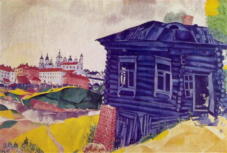 The Blue House, 1917 - Marc Chagall