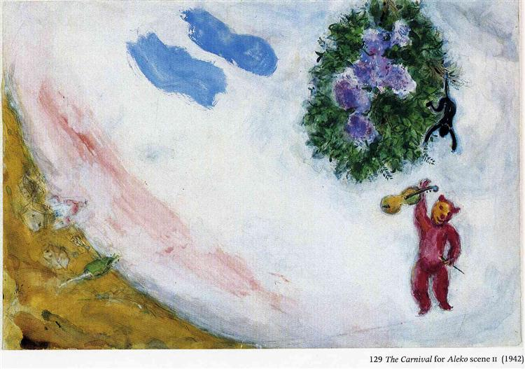 "The Carnival, scene II of the Ballet ""Aleko"" - Chagall Marc"