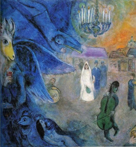 The Wedding Candles, c.1945 - Marc Chagall