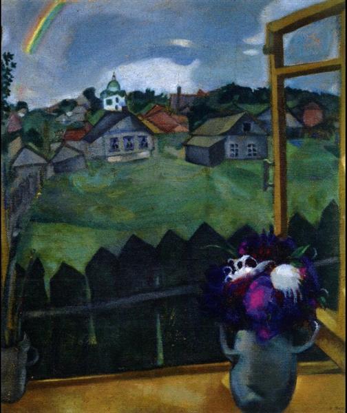 Window Vitebsk 1908 Marc Chagall Wikiart Org