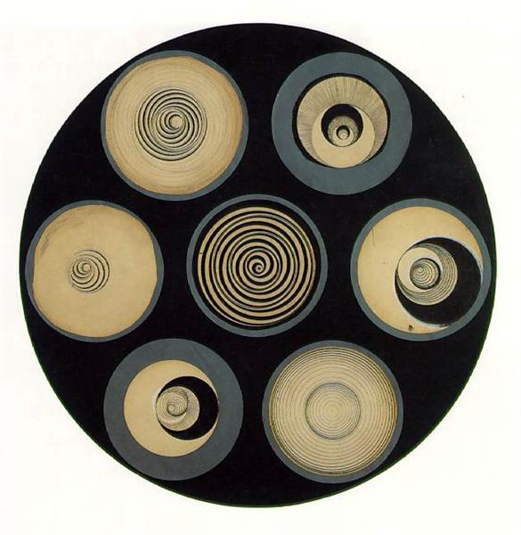 Disks Bearing Spirals, 1923 - Marcel Duchamp