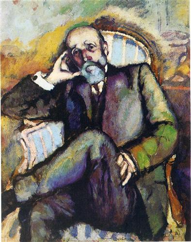 Portrait of the artist's father - Marcel Duchamp