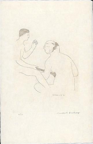 Selected Details after Ingres I, 1968 - Marcel Duchamp