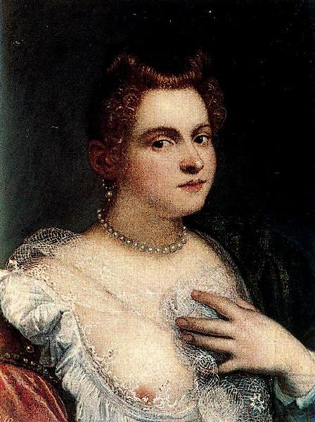Self-portrait (or Venetian Woman; attributed), c.1580 - Marietta Robusti