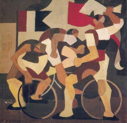 Radfahrer II, 1951 - Mario Comensoli