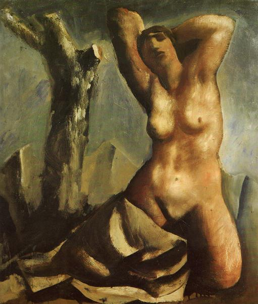 Nude with tree, 1930 - Mario Sironi
