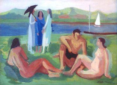 Figuras no Tietê, 1940 - Mario Zanini