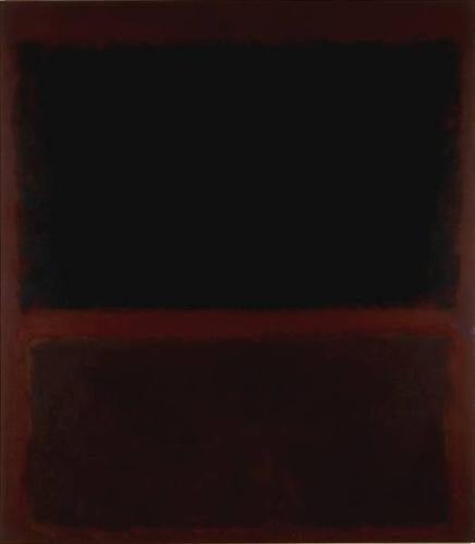 Black on Dark Sienna on Purple - Mark Rothko