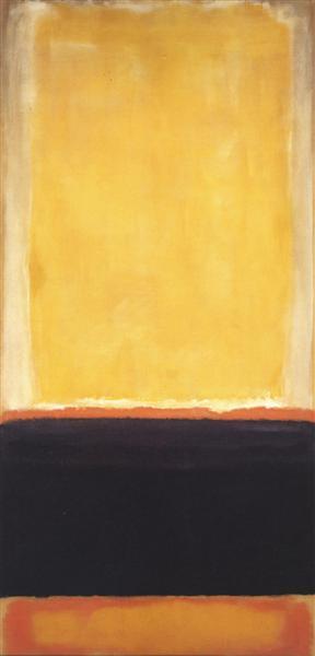 Yellow, Charcoal, Brown, 1953 - Марк Ротко