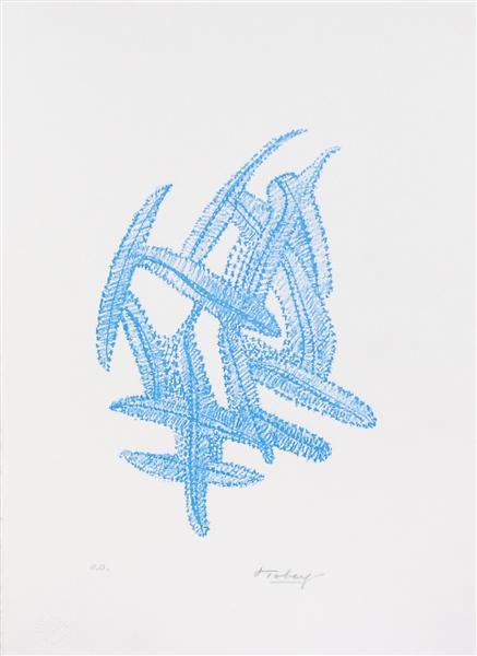 Komposition - blau, 1972 - Mark Tobey