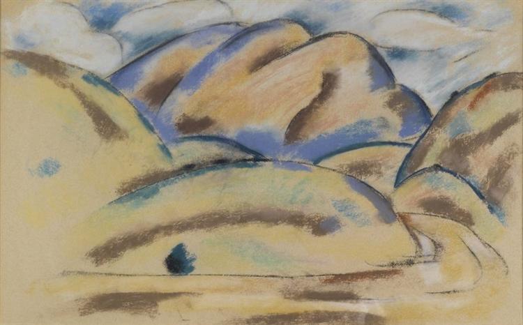 Landscape, New Mexico, 1920 - Marsden Hartley