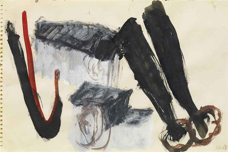 Willensgehöft, 1986 - Martin Disler