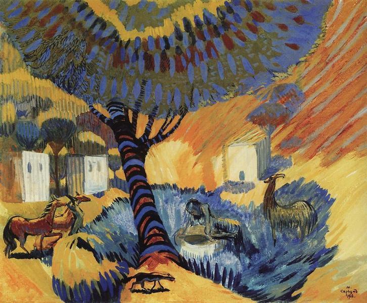 At the well, 1908 - Martiros Sarian