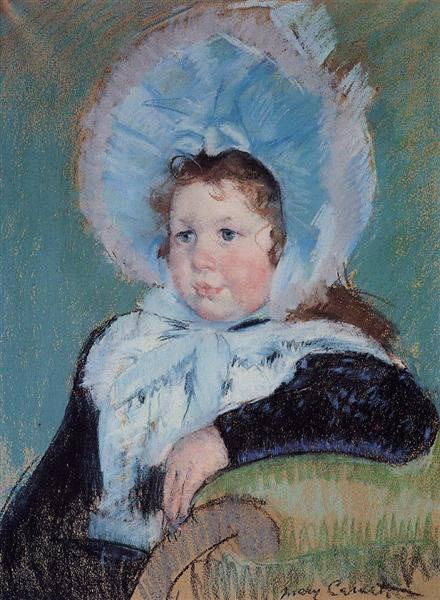 Dorothy in a Very Large Bonnet and a Dark Coat, c.1904 - Mary Cassatt
