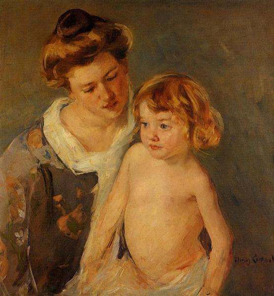 Jules Standing by His Mother, c.1901 - Mary Cassatt