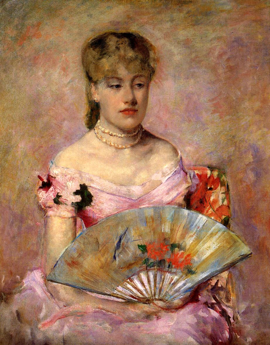 Lady with a Fan (Portrait of Anne Chlotte Gailld), c.1880 ...