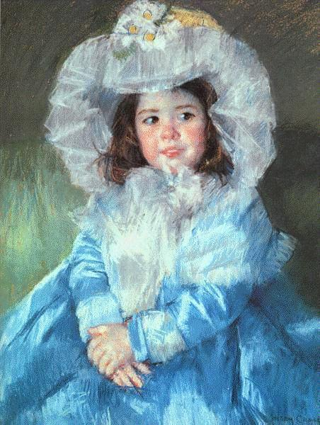 Margot in Blue, 1902 - Mary Cassatt