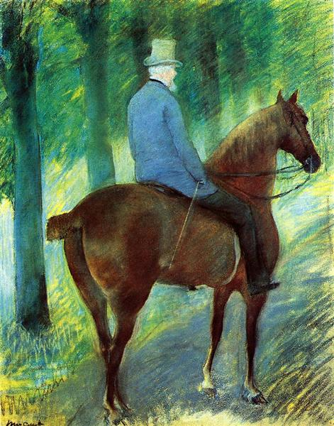 Mr. Robert S. Cassatt on Horseback, 1885 - Mary Cassatt
