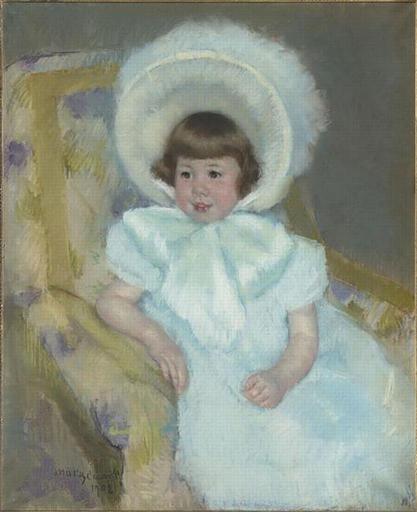 Portrait of Louise Aurora child Villeboeuf, 1902 - Mary Cassatt