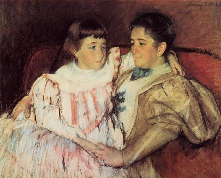 Portrait of Mrs Havemeyer and Her Daughter Electra, 1895 - Mary Cassatt