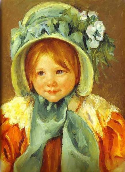 Sarah in a Green Bonnet, 1901 - Mary Cassatt