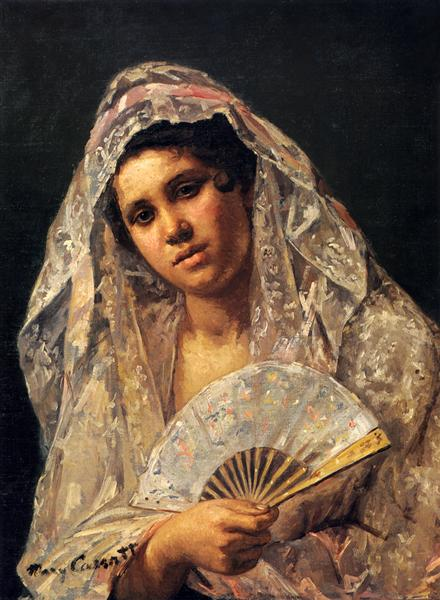 Spanish Dancer Wearing a Lace Mantilla, 1873 - Mary Cassatt