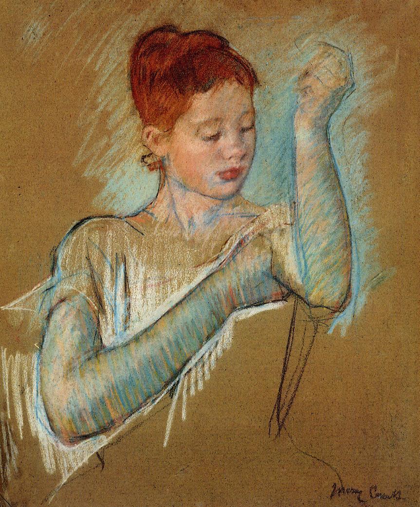 The Long Gloves, 1889 - Mary Cassatt - WikiArt.org