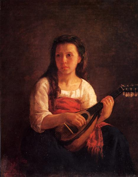 The Mandolin Player, c.1872 - Mary Cassatt