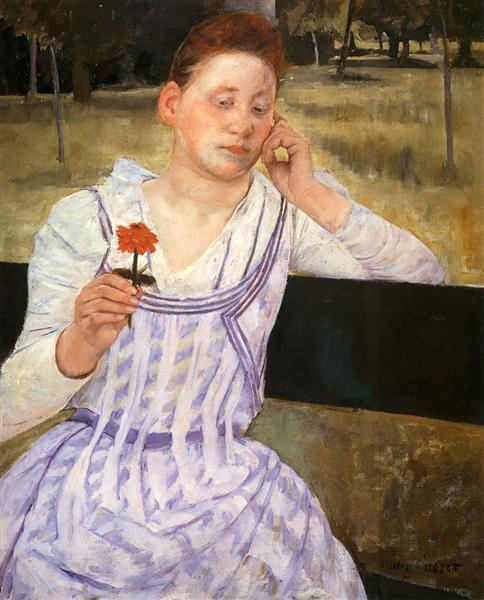 Woman With A Red Zinnia, 1891 - Mary Cassatt