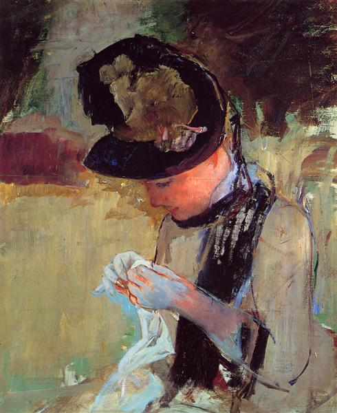 Young Woman Sewing in the Garden, 1886 - Mary Cassatt