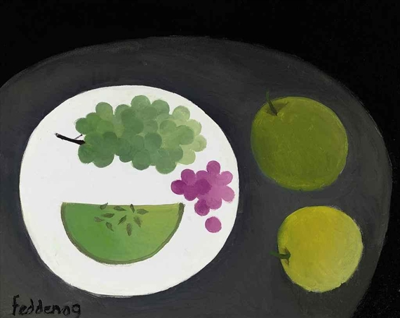 Melon and Grapes, 2009 - Mary Fedden