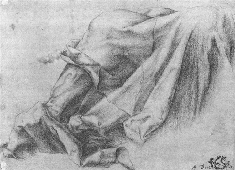 Drapery Study, 1512 - Matthias Grünewald