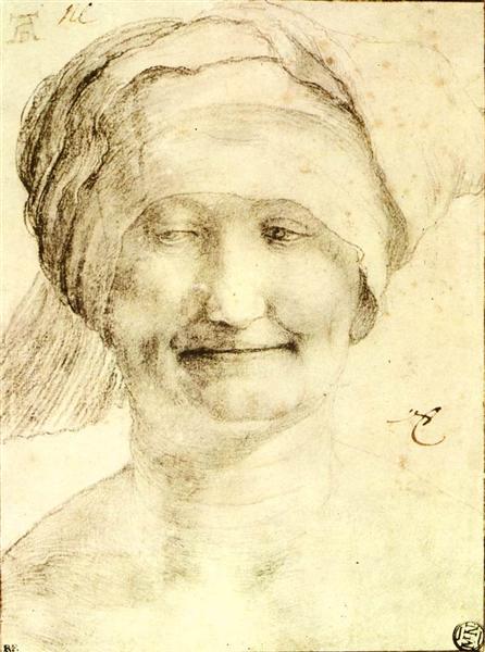 Smiling Woman, c.1520 - Matthias Grünewald