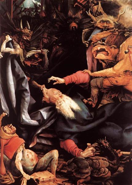 The Temptation of St. Anthony (detail), 1510 - 1515 - Matthias Grünewald