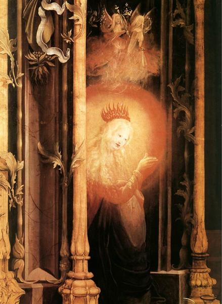 The Virgin Illuminated (detail from the Concert of Angels from the Isenheim Altarpiece) - Matthias Grünewald