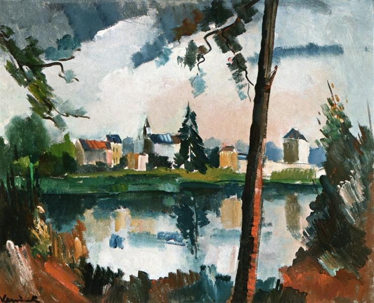 The Seine at Chatou, c.1909 - c.1910 - Maurice de Vlaminck