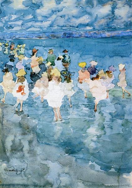 Niños en la playa - Maurice Prendergast