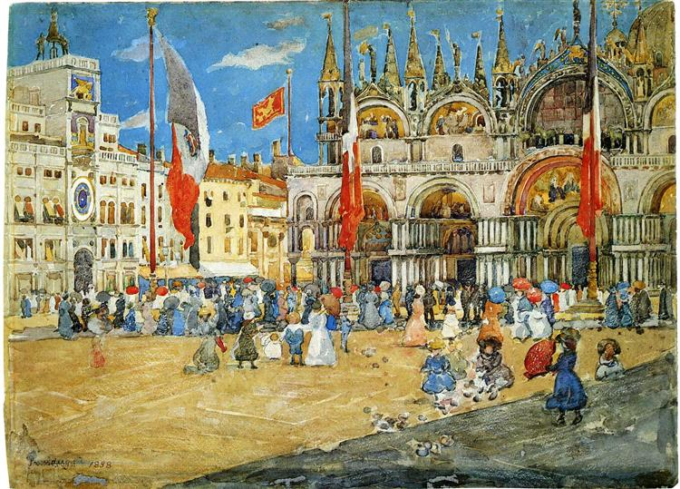 St. Mark's, Venice, 1898 - Maurice Prendergast