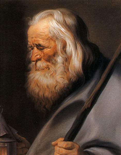 Diogenes, after Peter Paul Rubens - Maurice Quentin de La Tour