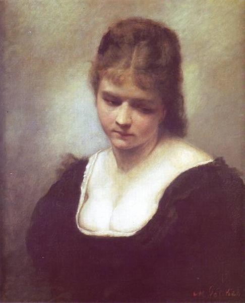 Portrait of a Woman, 1878 - Maurycy Gottlieb