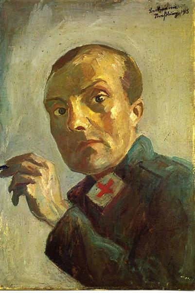 Self-Portrait as a Nurse - Max Beckmann