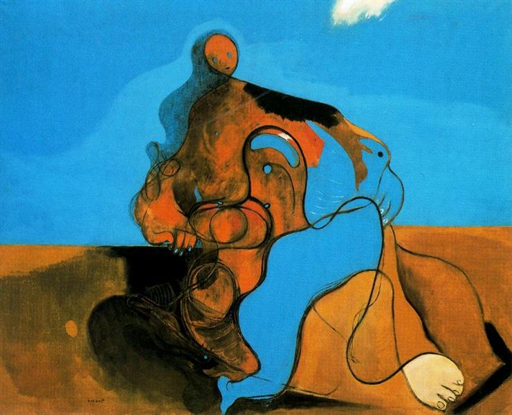 The Kiss, 1927 - Max Ernst