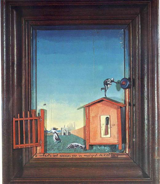 Two Children are Threatened by a Nightingale, 1924 - Max Ernst