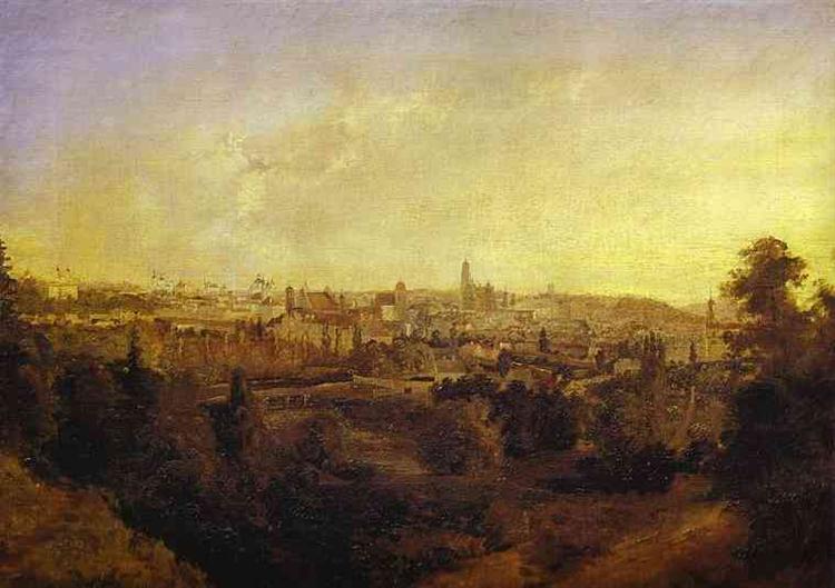 View of a Town (Grodno), 1833 - Максим Воробьёв