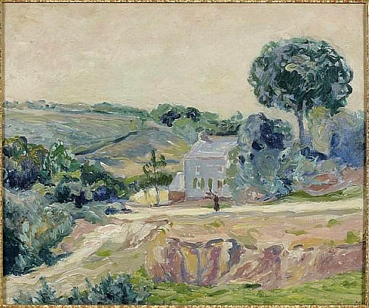 At sunrise in a valley, Brittany, 1916 - Максим Мофра