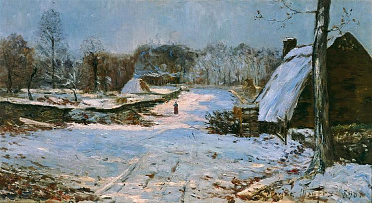 Cottages in the Snow, 1891 - Maxime Maufra