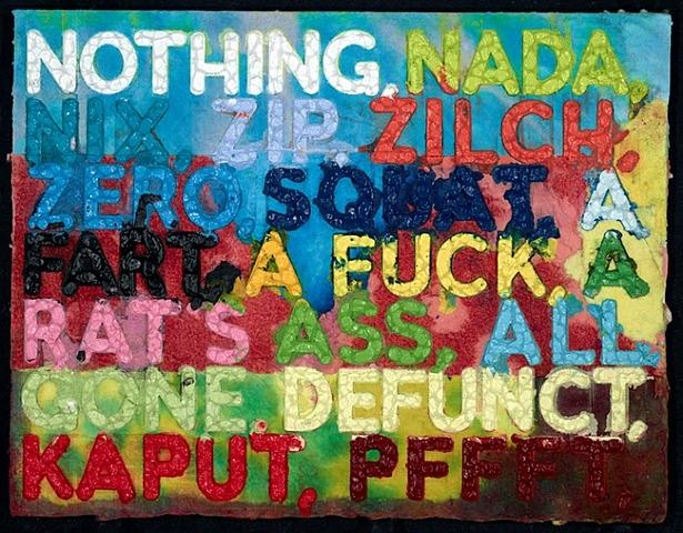 Nothing, 2012 - Mel Bochner