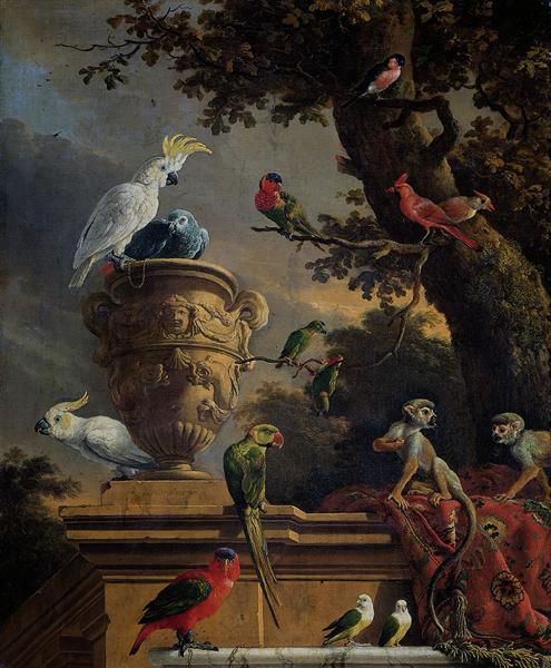 The Menagerie, 1690 - Melchior d'Hondecoeter