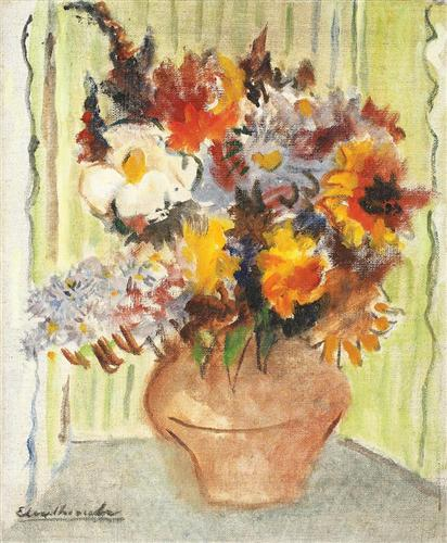 Vase with Flowers - Micaela Eleutheriade